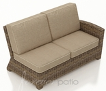 Wicker Forever Patio Cypress Sectional Right Arm Facing Loveseat