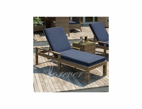 Wicker Forever Patio Cypress Single Adjustable Chaise Lounge with Arms