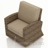 Wicker Forever Patio Cypress Swivel Glider Club Chair