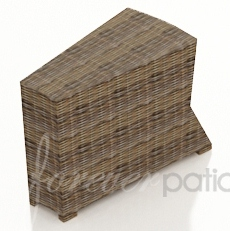 Wicker Forever Patio Cypress Wedge End Table