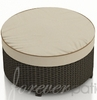 "Wicker Forever Patio Hampton 34"" Dia Round Ottoman"