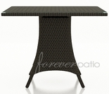 "Wicker Forever Patio Hampton 36"" Square Pub/Bar Table"