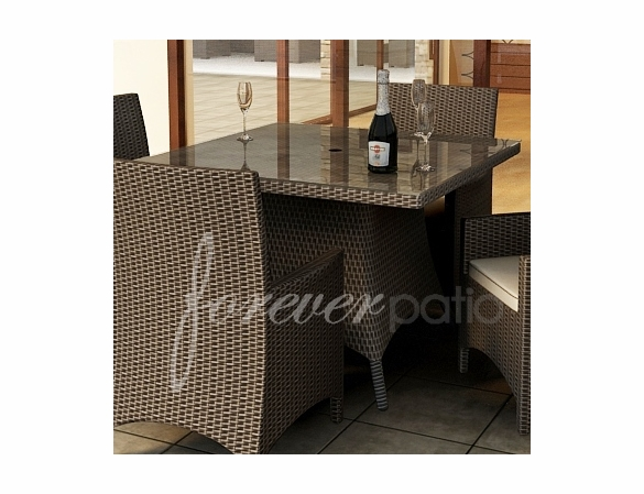 "Wicker Forever Patio Hampton 48"" Square Dining Table"