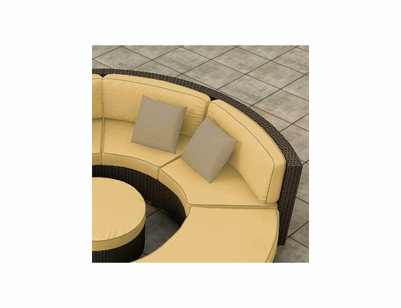 Wicker Forever Patio Hampton Curved Loveseat