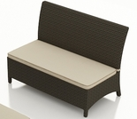 Wicker Forever Patio Hampton Dining Loveseat Size Bench