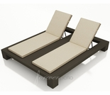 Wicker Forever Patio Hampton Double Adjustable Chaise Lounge