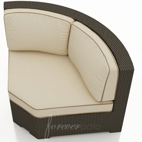 Wicker Forever Patio Hampton Sectional 45 Degree Corner