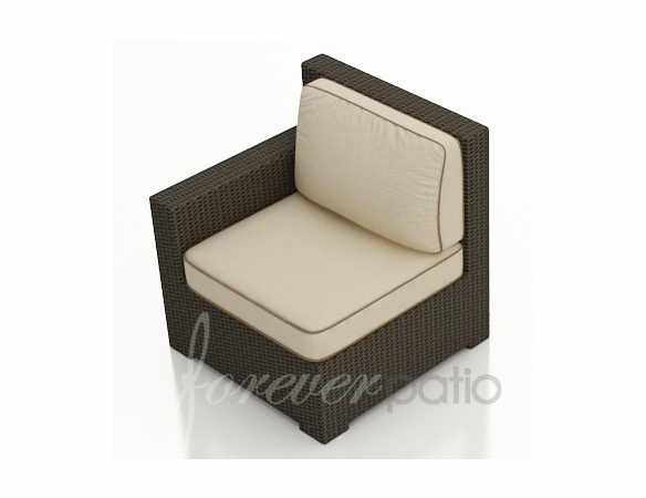 Wicker Forever Patio Hampton Sectional Left Arm Facing Chair