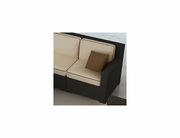 Wicker Forever Patio Hampton Sectional Right Arm Facing Chair