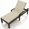 Wicker Forever Patio Hampton Single Adjustable Chaise Lounge with Arms