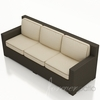 Wicker Forever Patio Hampton Straight Sofa