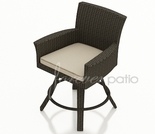 Wicker Forever Patio Hampton Swivel Bar Stool