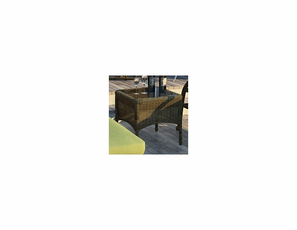 """Wicker Forever Patio Rockport 20"""" Square End Table"""