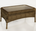 "Wicker Forever Patio Rockport 32"" x 21"" Rectangular Coffee Table"