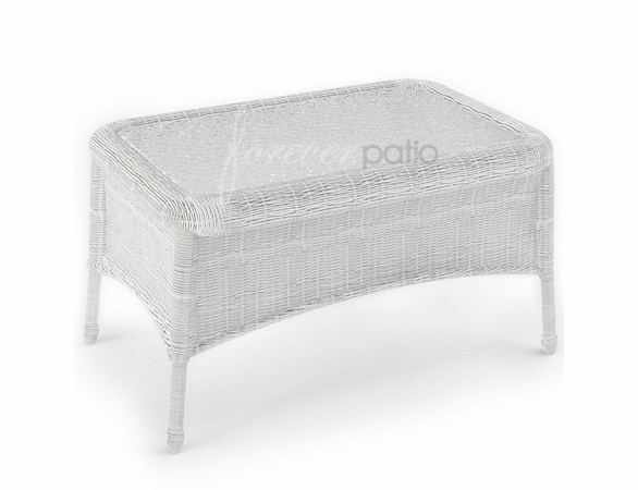 """Wicker Forever Patio Rockport 32"""" x 21"""" Rectangular Coffee Table"""