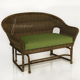 Wicker Forever Patio Rockport Double Glider