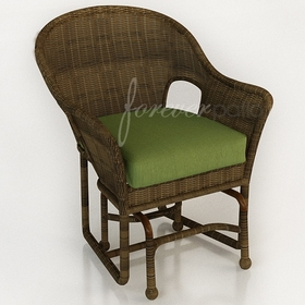 Wicker Forever Patio Rockport Single Glider