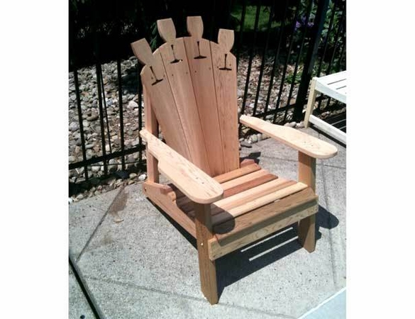 Wine Glass Adirondack Chair - Cedar