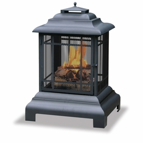 Wood Burning Black Outdoor Firehouse