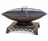 Wood Burning Oil Rubbed Bronze Outdoor Firebowl
