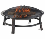 Wood Burning Round Brushed Copper Outdoor Firebowl