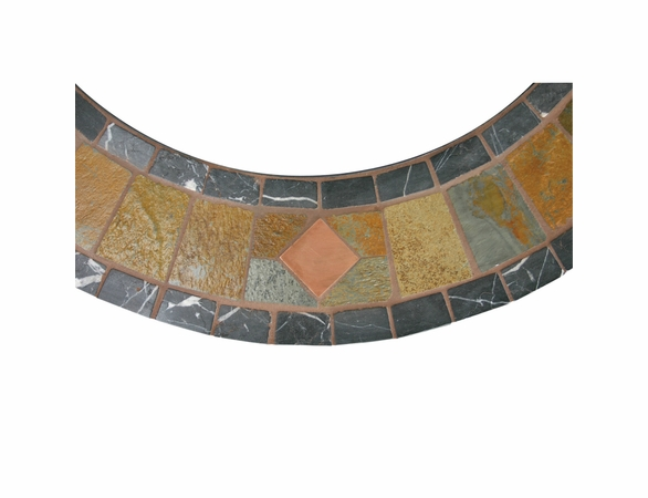 Wood Burning Slate ad Marble Outdoor Firebowl with Copper Accents