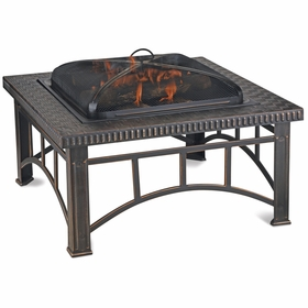 Wood Burning Square Copper Outdoor Firebowl