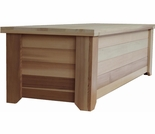 Wood Storage Bench - 5' - Exclusive Item