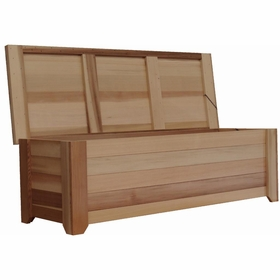 Wood Storage Bench 6 Exclusive Item