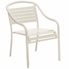 Woodard Baja Aluminum Stackable Arm Chair