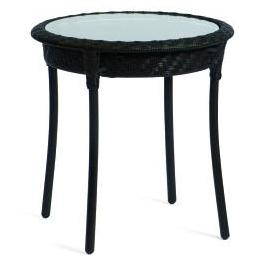 "Whitecraft by Woodard Barlow 22"" Round Wicker End Table"