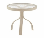 "Woodard Deluxe 18"" Round End Table - Multiple Finishes"