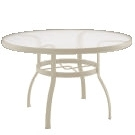 """Woodard Deluxe 42"""" Round Umbrella Table - Multiple Finishes"""