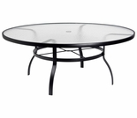 "Woodard Deluxe 48"" Round Umbrella Table - Textured Black"