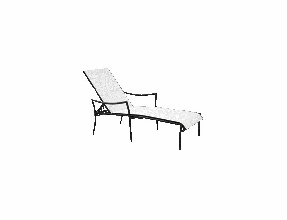 Woodard Dominica Aluminum Stackable Chaise Lounge