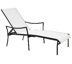 Woodard Dominica Stackable Chaise Lounge