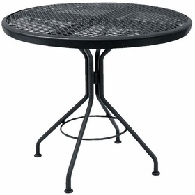 """Woodard Mesh Top 30"""" Round Dining Table"""