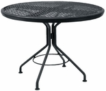 "Woodard Mesh Top 30"" Round Dining Table"
