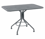 "Woodard Mesh Top 36"" Square Dining Umbrella Table"