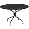 "Woodard Mesh Top Wrought Iron 48"" Round Dining Umbrella Table"