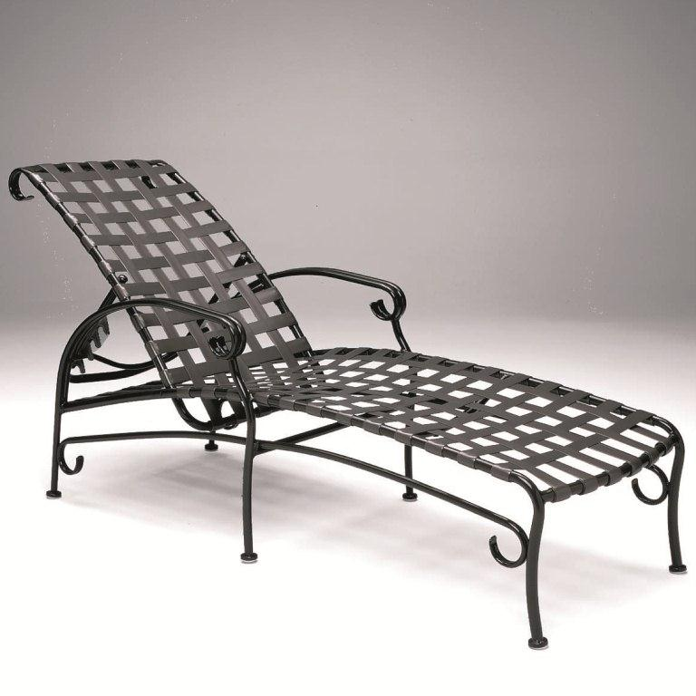 woodard ramsgate strap chaise lounge chair adjustable