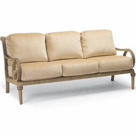 Whitecraft by Woodard South Shore Wicker Sofa