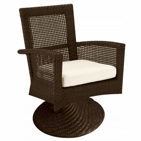 Whitecraft by Woodard Trinidad Wicker Swivel Rocker Dining Chair
