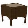 "Whitecraft by Woodard Trinidad Wicker 23.5"" End Table"
