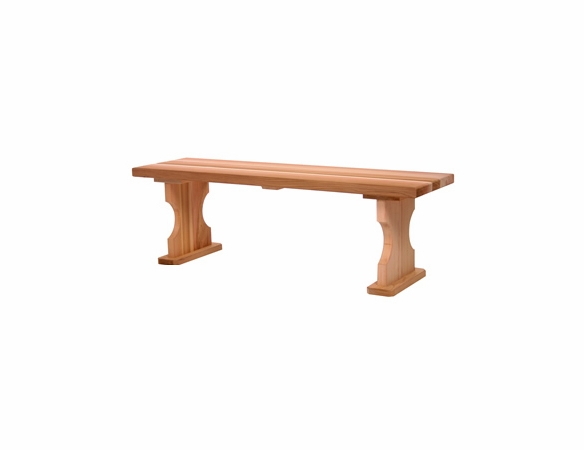 Wooden 4 Ft Backless Bench-Garden Bench Kit
