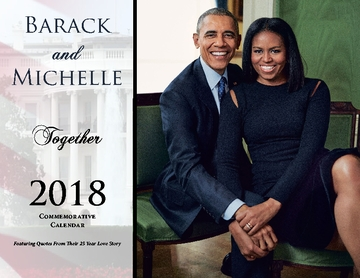 "2018 ""TOGETHER"" Barack and Michelle Obama 12 Month Commemorative Calendar"