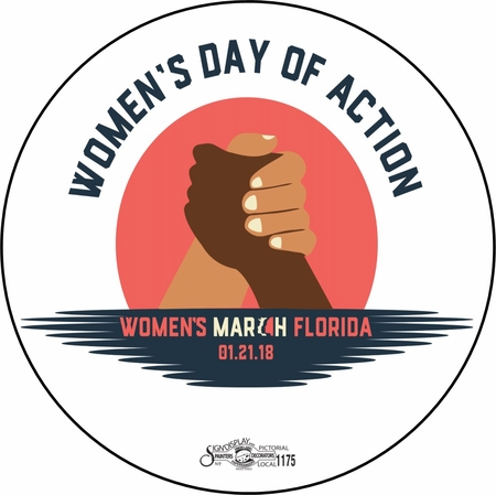 2018 Women's March Anniversary Shirts, Bags and Buttons! Support the Resistance!