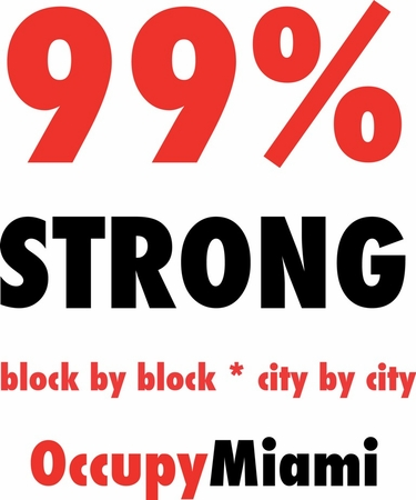 99% Strong Occupy Miami T-Shirt