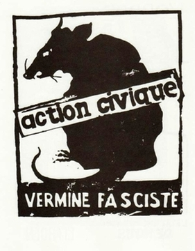 Action Civique Vermine Fasciste - Paris May 1968 Street Poster - Available in 2 sizes!