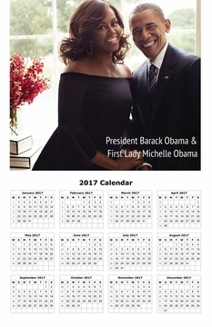 Barack and Michelle Obama 2017 Calendar 11'' x 17'' (2)